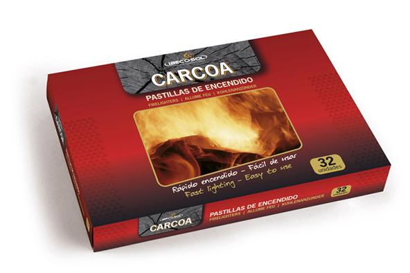 Pastillas de Encendido Carcoa. 32 Unidades. Ibecosol