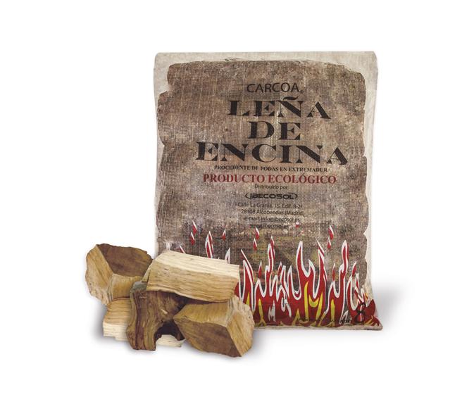 Leña de Encina Carcoa. Productos para chimenea. Ibecosol