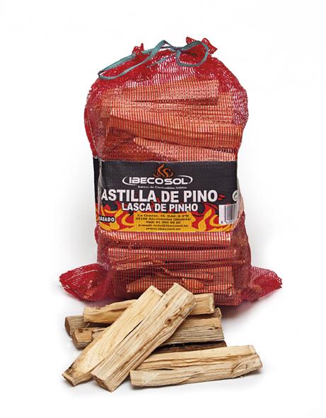 Astillas de Pino Carcoa. Productos para chimenea Ibecosol
