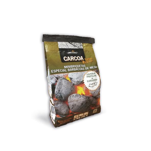 Minibriquetas de Carbón Vegetal Carcoa + Pastillas de encendido 1'5kg. Ibecosol