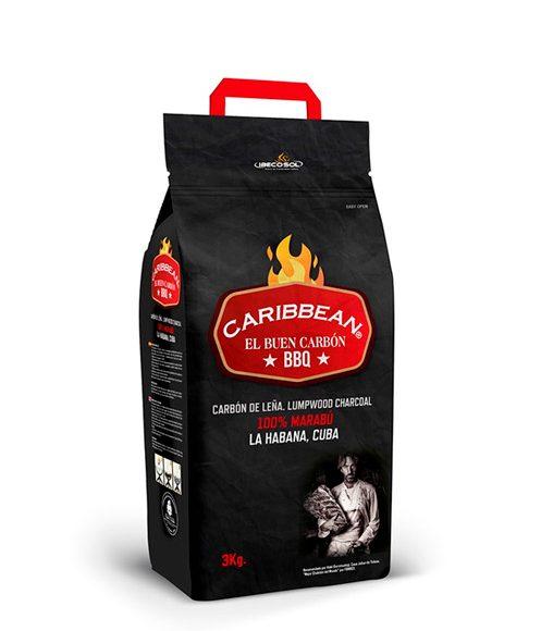 Carbón de leña Caribbean. Especial barbacoa. Ibecosol