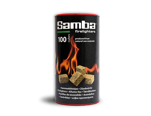 Pastillas de encendido Samba. 100 cubos. Ibecosol